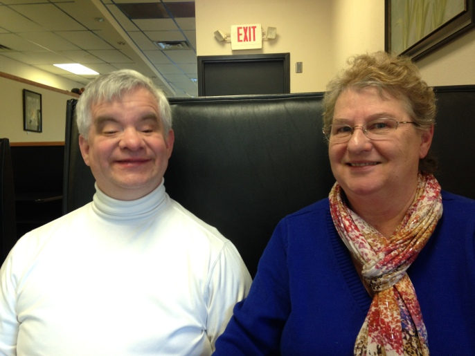 Brad and Mary Barrows Enjoying each others company at a Harrisburg, Pennsylvania diner. Photo: Katherine Jurgens