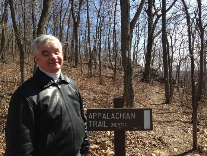 Brad Barrows plans to climb this Dauphin County, Pennsylvania stretch of the Appalachian Trail. Photo: Katherine Jurgens